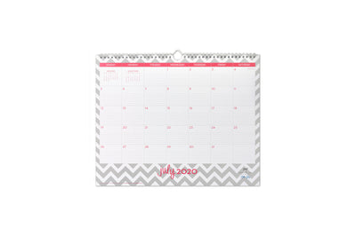 2020-2021 office wall calendar for academic season in 15x12
