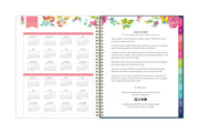 2020-2021 reference calendar for day designer planner with story in pink and floral pattern