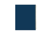 day designer for blue sky 8.5x11 weekly and monthly planner with gold wire-o binding and navy background