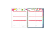 2021-2022 weekly and monthly planner featuring a weekly spread with notes section, to-do list, and rainbow colored tabs in 8.5x11 planner size