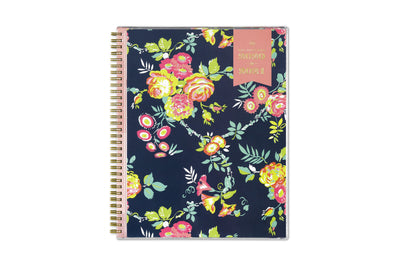 2020-2021 day designer 8.5x11 peyton navy weekly planner with floral patterns