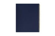 day designer 8.5x11 navy back cover and gold wire-o for this weekly monthly planner