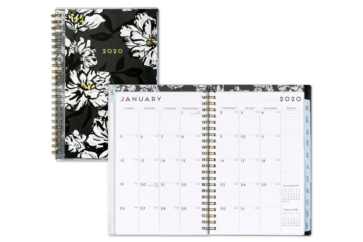 2020 5x8 planner, blue sky, monthly view