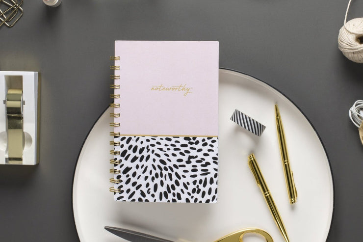 "2019 Noteworthy™ ""Animal Splash"" 5 x 8 Weekly/Monthly 6-In-1 Planner"