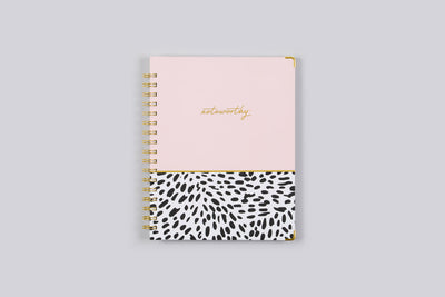 "2019 Noteworthy™ ""Animal Splash"" 7 x 9 Weekly/Monthly Hardcover Planner Notebook"