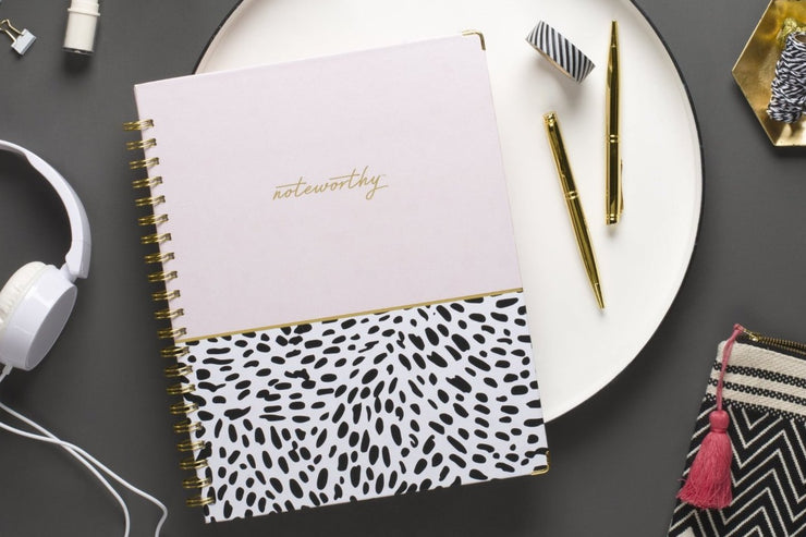 "Noteworthy™ ""Animal Splash"" 8.5 x 11 Weekly Hardcover 6-In-1 Planner"