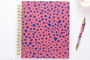 "2019 Dabney Lee for Blue Sky ""Cheetah Coral"" 7 x 9 Daily/Monthly Hardcover Planner"