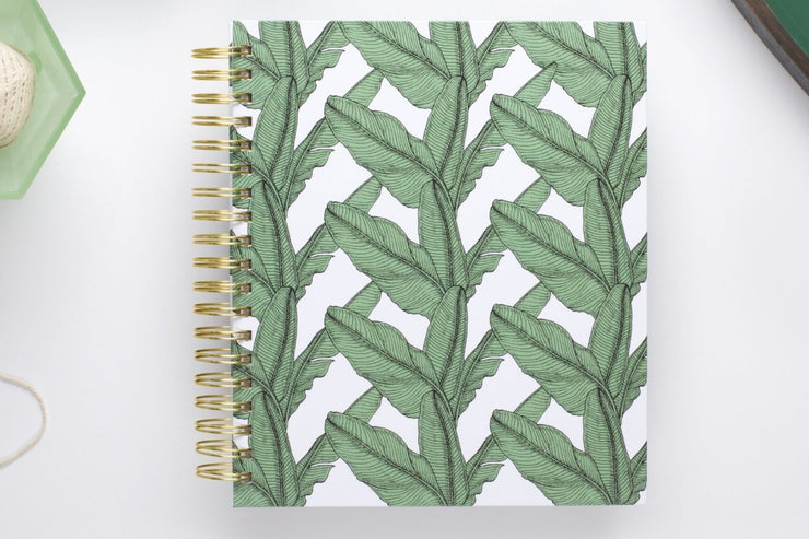 "Dabney Lee for Blue Sky ""Banana Leaf"" 8 x 10 Daily/Monthly Hardcover Planner"