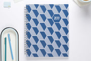 "2019 Dabney Lee for Blue Sky ""Honeycomb Blue"" 8.5 x 11 Weekly/Monthly Hardcover Planner"