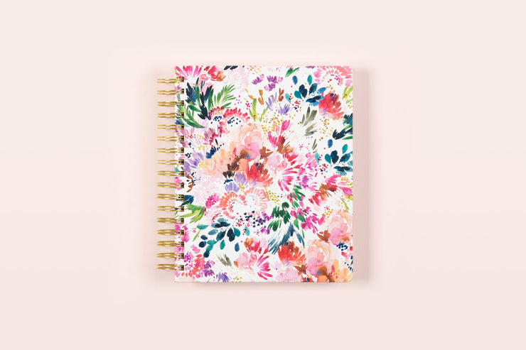 "2019 Kelly Ventura for Blue Sky ""Summer Garden"" 7 x 9 Daily/Monthly Hardcover Planner"