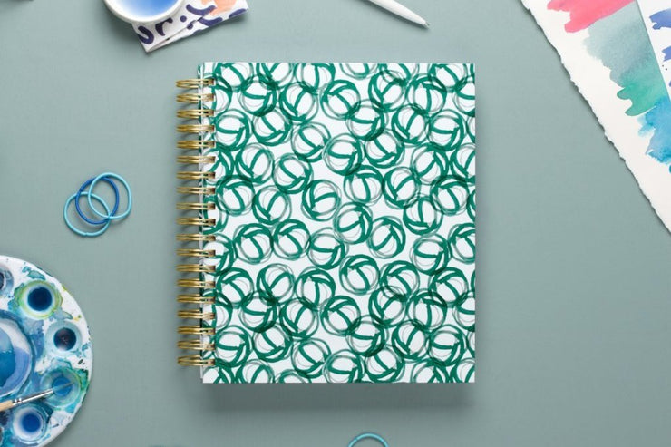 "2019 Kelly Ventura for Blue Sky ""Loops"" 8 x 10 Daily/Monthly Hardcover Planner"