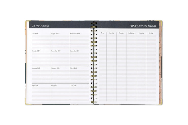 2019-2020 Teacher Florinda 8.5 x 11 Weekly Hardcover Lesson Planner