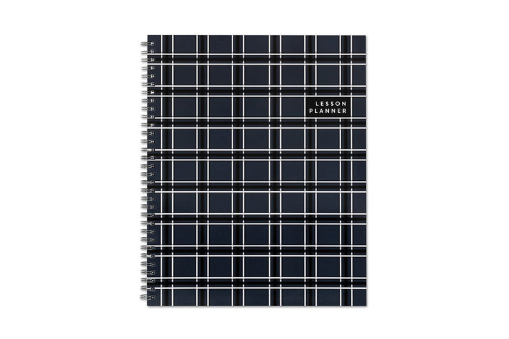 2019-2020 Teacher Plaid 8.5 x 11 Weekly Frosted Lesson Planner