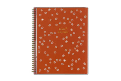 2019-2020 Teacher Flower Dot 8.5 x 11 Weekly CYO Lesson Planner