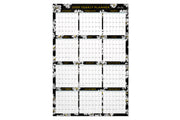 2020 wall calendar, 24x36, vertical and horizontal, blue sky