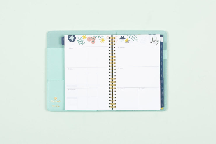 "2019-2020 Ampersand for Blue Sky ""Fresh Floral"" 5 x 8 Weekly Padded Refillable Planner"