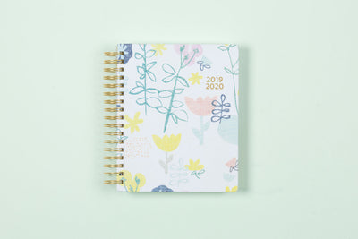"2019-2020 Ampersand for Blue Sky ""Fresh Floral"" 7 x 9 Daily Hardcover Planner"