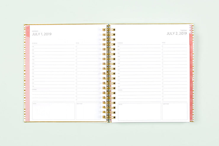 "2019-2020 Ampersand for Blue Sky ""Organic Gold Stripe"" 8 x 10 Daily Hardcover Planner"
