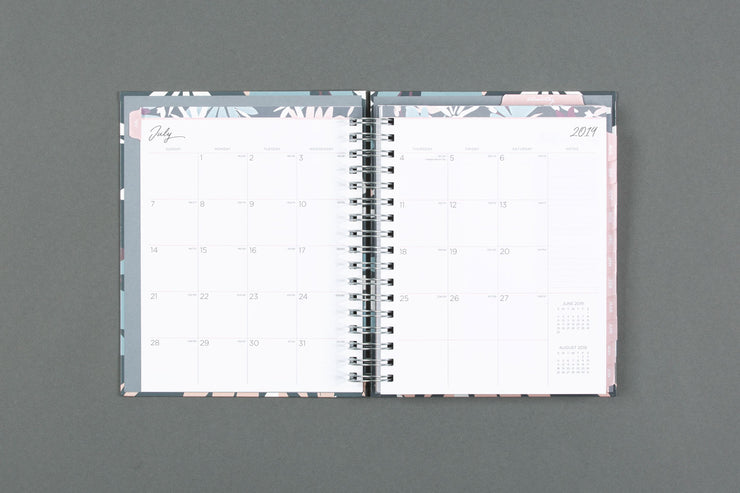 "2019-2020 Noteworthy™ ""Britt"" 7 x 9 Daily Hardcover Planner Notebook"