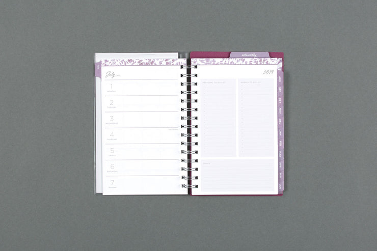 "2019-2020 Noteworthy™ ""Krystal"" 5 x 8 Weekly CYO Planner Notebook"
