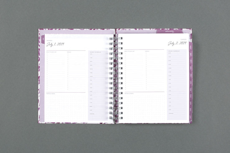 "2019-2020 Noteworthy™ ""Krystal"" 7 x 9 Daily Hardcover Planner Notebook"