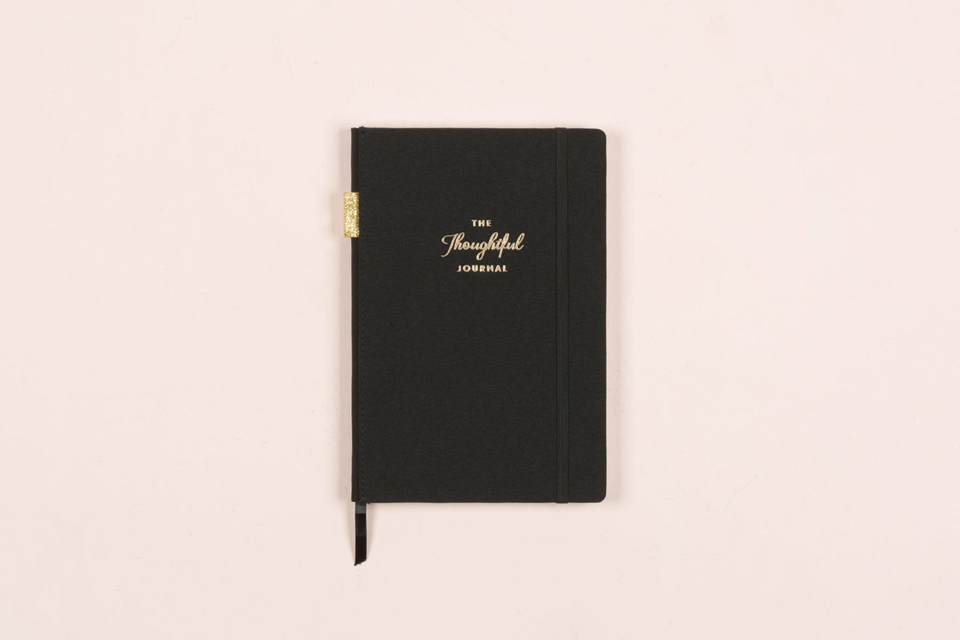 "The Thoughtful Journal ""Black"" 5.75 x 8.5 Linen Bookbound"
