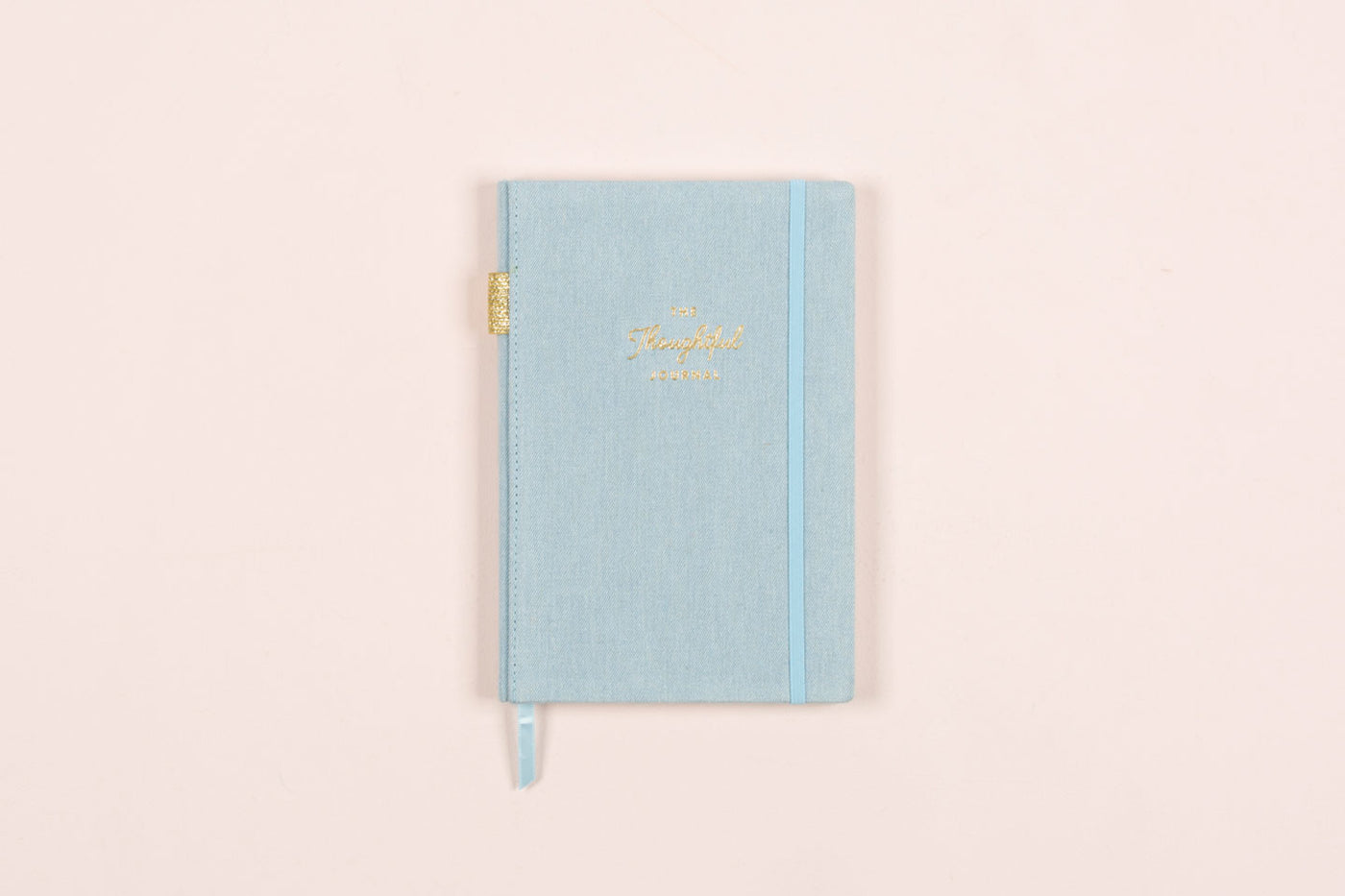 "The Thoughtful Journal ""Blue Chambray"" 5.75 x 8.5 Linen Bookbound"
