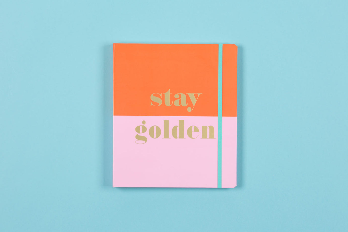 "2019-2020 Good Vibes ""Stay Golden"" 7 x 9 Weekly Hardcover Planner"