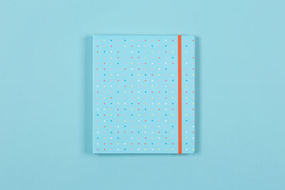 "2019-2020 Good Vibes ""Square Dots"" 7 x 9 Weekly Hardcover Planner"