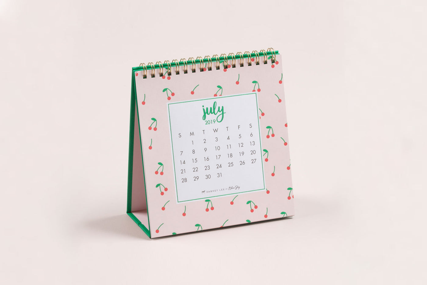 "2019-2020 Dabney Lee for Blue Sky ""Cherry"" Monthly Desk Calendar w/ Stand"