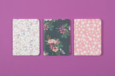 3 Pack Assorted 5.5 x 7.5 Notebook