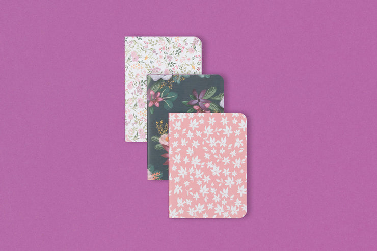 Floral Assorted 3-Pack Notebook