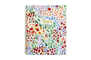 2019-2020 Teacher Ditsy Dapple Floral 8.5 x 11 Weekly Frosted Lesson Planner