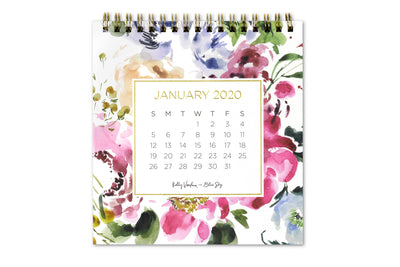 "2020 Desk Calendar by Kelly Ventura ""Peony Fields"""