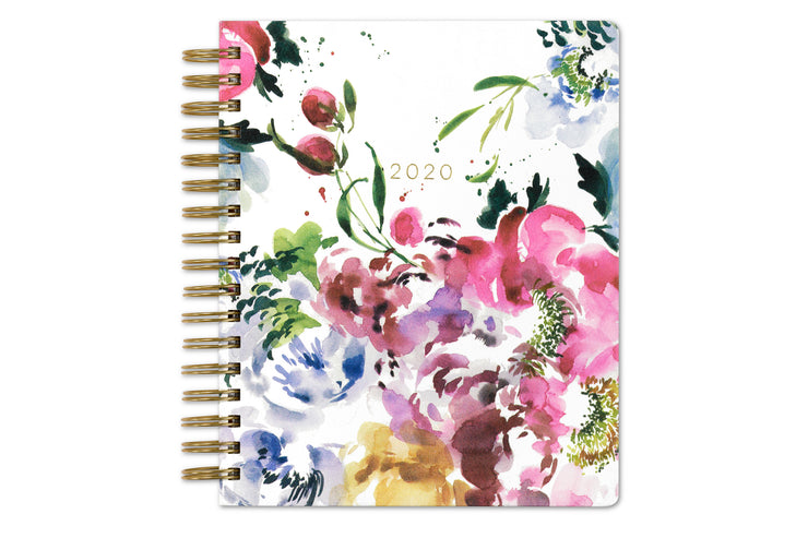 kelly ventura 2020 daily planner in hand brushed florals 7x9