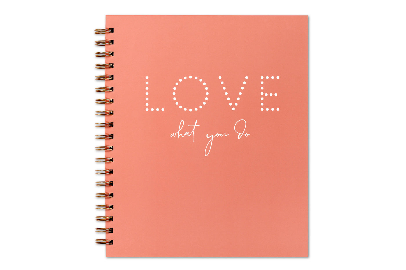 2020 8x10 weekly monthly planner with hardcover in coral