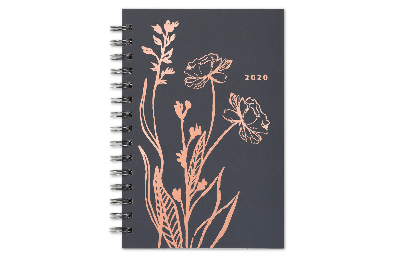 2020 5x8 weekly monthly planner with hardcover in coral