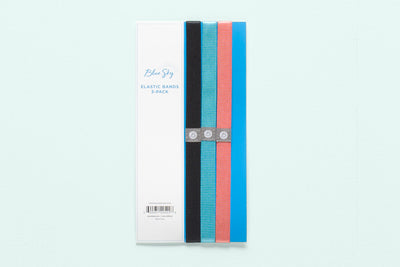 Assorted Blue Sky Elastic Bands 3-Pack