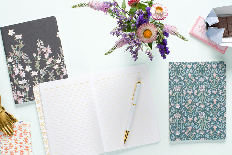Winter Floral Assorted 3-Pack Notebook