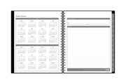 7x9 academic planner with a 2020-21 calendar reference page and yearly goals plus owner information on right page