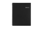 Blue sky's professional planner in 7x9 size with a solid charcoal front cover and silver text for 2020-21 academic year