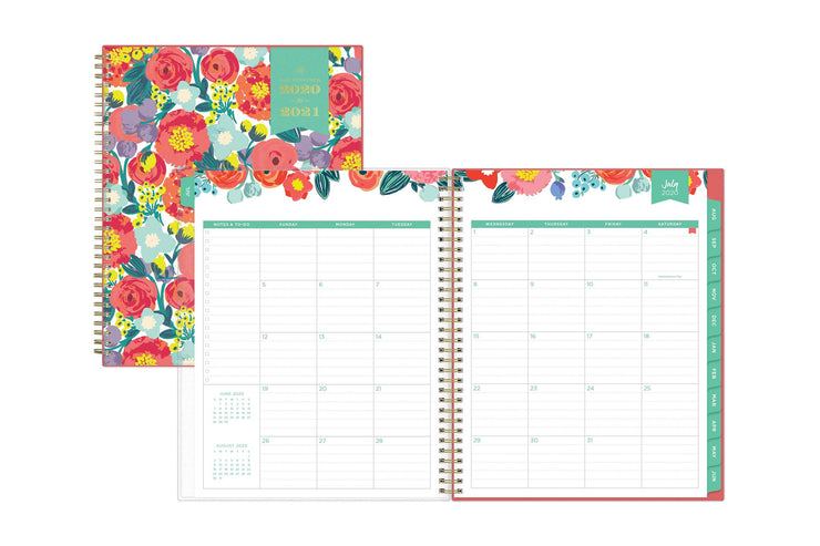 july 2020 monthly spread with ample writing space for planning, scheduling, note-taking and to-do lists.