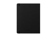 7x9 hard back cover with attached black elastic band and pen loop