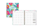 teacher lesson planner featuring July 2020 monthly spread with grey tone theme, notes section, and reference calendar