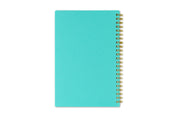5x8 flexible back cover in mint color with gold twin wire-o binding by day designer