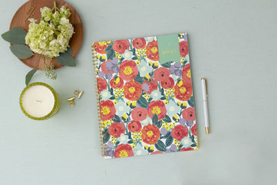 2021 Floral Sketch 8.5 x 11 Weekly Planner Day Designer