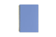 day designer's climbing floral design with a flexible blue cover in 5x8 size, and gold twin-o binding