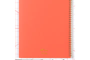 Blue Sky academic planner with a solid coral background cover and gold twin wire-o binding for 2020-21 year