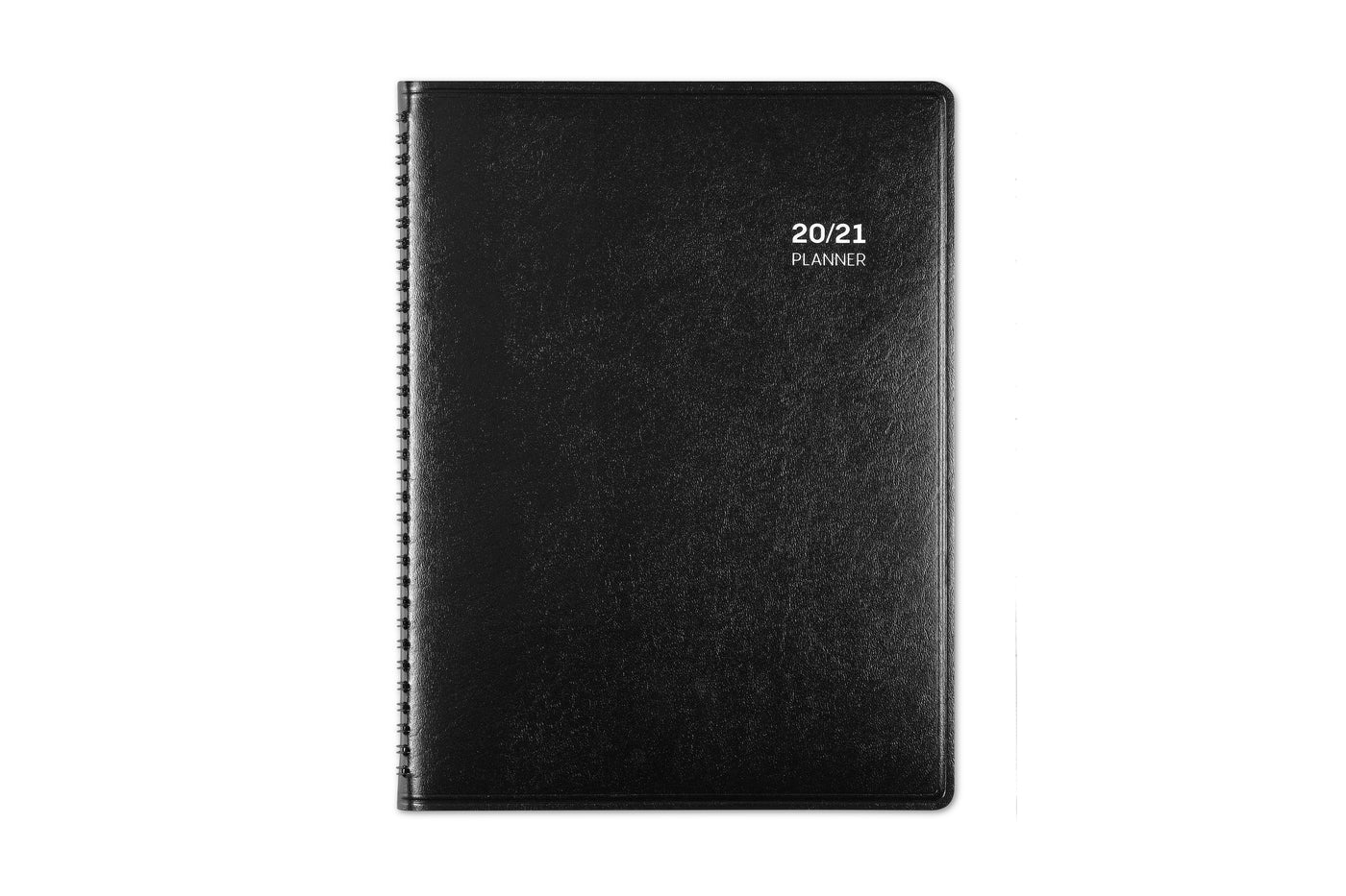 Blue Sky's PAJCO appointment book in 8.5x11 size with a solid black, flexible, and durable cover