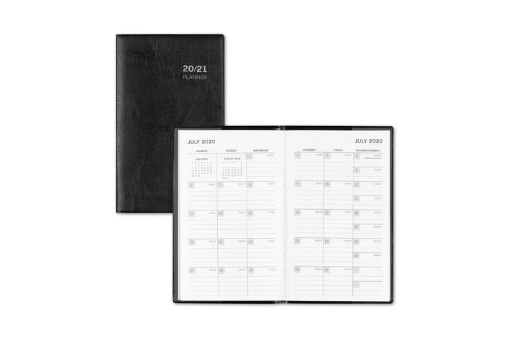 Blue Sky's PAJCO monthly pocket planner featuring July 2020 monthly view with lined writing space and reference calendar